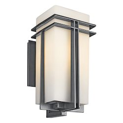 Kichler Black (Painted) Tremillo Collection 1 Light 20In. Outdoor Wall Light
