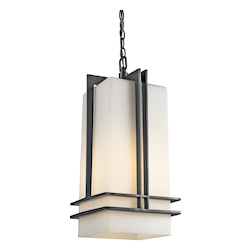 Kichler Black (Painted) Fluorescent 1 Light Outdoor Pendant From The Tremillo Collection