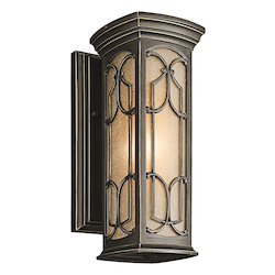 Kichler Olde Bronze Franceasi Collection 1 Light 15In. Outdoor Wall Light