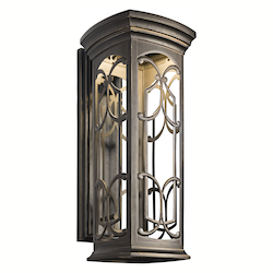 Kichler Olde Bronze Franceasi 25In. Energy Efficient Led Outdoor Wall Light