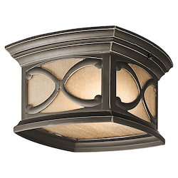 Kichler Olde Bronze Two Light Outdoor Ceiling Fixture From The Franceasi Collection
