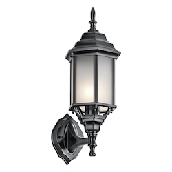 Kichler Black (Painted) Chesapeake Collection 1 Light 17