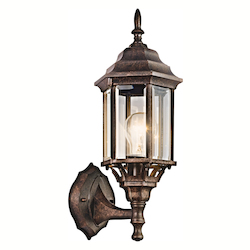 Kichler One Light Tannery Bronze Wall Lantern