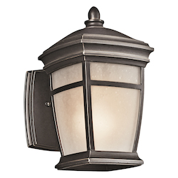 Kichler Rubbed Bronze Mcadams Collection 1 Light 10In. Outdoor Wall Light