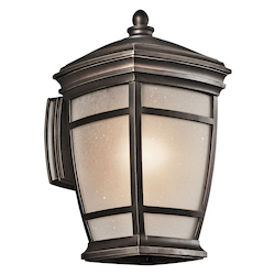 Kichler Rubbed Bronze Mcadams Collection 1 Light 14In. Outdoor Wall Light