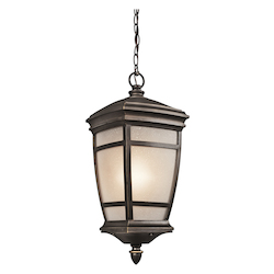 Kichler Rubbed Bronze 1 Light Outdoor Pendant From The Mcadams Collection