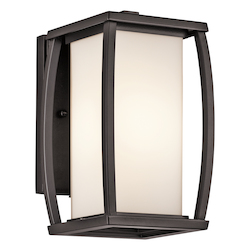 Kichler Architectural Bronze Bowen Collection 1 Light 10In. Outdoor Wall Light