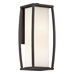 Kichler Architectural Bronze Bowen Collection 2 Light 18In. Outdoor Wall Light