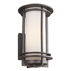 Kichler Architectural Bronze Pacific Edge Collection 1 Light 16In. Outdoor Wall Light