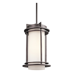 Kichler Open Box Architectural Bronze 1 Light Outdoor Pendant From The Pacific Edge Collection