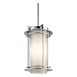 Kichler Polished Stainless Steel Marine Grade Outdoor Pendant