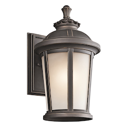 Kichler Rubbed Bronze Ralston Collection 1 Light 14In. Outdoor Wall Light
