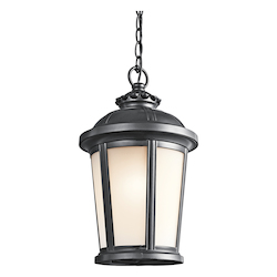 Kichler Black (Painted) 1 Light Outdoor Pendant From The Ralston Collection