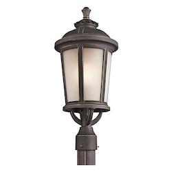 Kichler Rubbed Bronze 1 Light Outdoor Post Light From The Ralston Collection