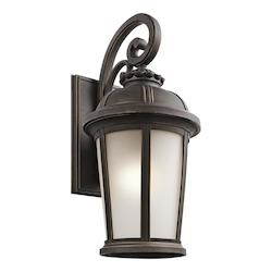 Kichler Rubbed Bronze Ralston Collection 1 Light 25In. Outdoor Wall Light