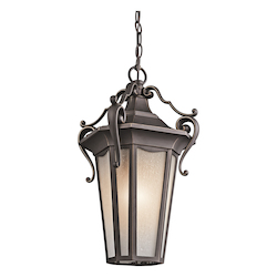 Kichler Rubbed Bronze 1 Light Outdoor Pendant From The Nob Hill Collection