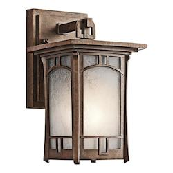 Kichler Aged Bronze Soria Collection 1 Light 10In. Outdoor Wall Light