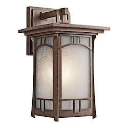 Kichler Aged Bronze Soria Collection 1 Light 15In. Outdoor Wall Light