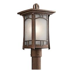 Kichler Aged Bronze Soria 1 Light 16In. High Outdoor Post Light
