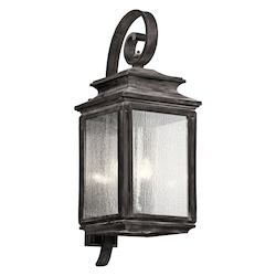 Kichler Four Light Weathered Zinc Wall Lantern