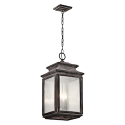 Kichler Four Light Weathered Zinc Hanging Lantern