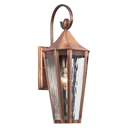 Kichler Antique Copper Rochdale Collection 1 Light 19