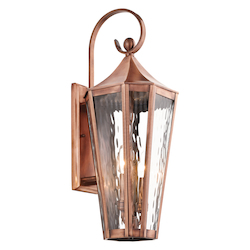 Kichler Antique Copper Rochdale Collection 2 Light 25