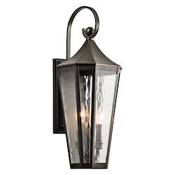 Kichler Olde Bronze Rochdale Collection 2 Light 25In. Outdoor Wall Light