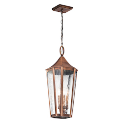 Kichler Kichler 49517Aco Antique Copper Rochdale 4 Light Outdoor Pendant