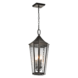 Kichler Olde Bronze Rochdale 4 Light Outdoor Pendant