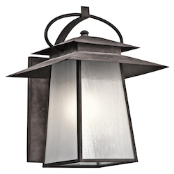 Kichler Weathered Zinc Woodland Lake Collection 1 Light 23