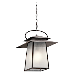 Kichler Weathered Zinc Woodland Lake 1 Light Outdoor Pendant
