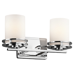 Kichler Two Light Chrome Vanity