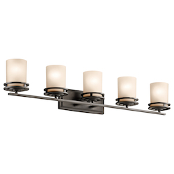 Kichler Five Light Olde Bronze Vanity