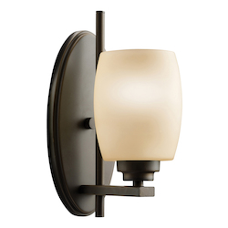 Kichler Olde Bronze 4.5In. Wide Single-Bulb Bathroom Lighting Fixture