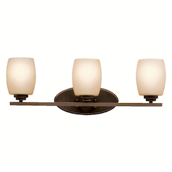 Kichler Olde Bronze 24In. Wide 3-Bulb Bathroom Lighting Fixture