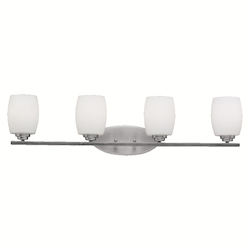 Kichler Brushed Nickel Eileen 34In. Wide 4-Bulb Bathroom Lighting Fixture