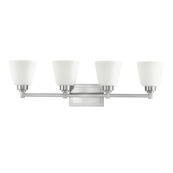 Kichler Brushed Nickel Berwick 30In. Wide 4-Bulb Bathroom Lighting Fixture