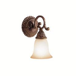 Kichler Tannery Bronze With Gold One Light Reversible Wall Sconce