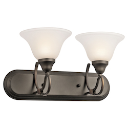Kichler Olde Bronze 18In. Wide 2-Bulb Bathroom Vanity