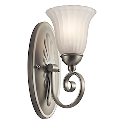 Kichler Brushed Nickel Single Light Wall Sconce From The Willowmore Collection