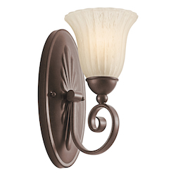 Kichler One Light Tannery Bronze Wall Light