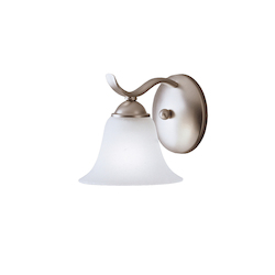 Kichler Brushed Nickel One Light Reversible Wall Sconce From The Dover Collection