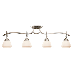 Kichler Kichler 7703Ap Antique Pewter Olympia 4 Light Semi-Flush Indoor Ceiling Fixture