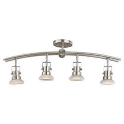Kichler Brushed Nickel Structures 4 Light Semi-Flush Indoor Ceiling Fixture