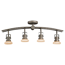 Kichler Four Light Olde Bronze Directional Flush Mount