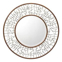Kichler Gold Leaf Twigs Round Sunburst Mirror - 39In. X 39In.