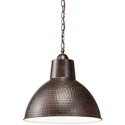 Kichler One Light Bronze Down Pendant