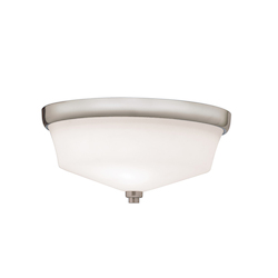 Kichler Brushed Nickel Langford 2 Light Flush Mount Indoor Ceiling Fixture