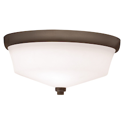 Kichler Two Light Olde Bronze Bowl Flush Mount